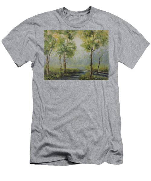 Landscape Of The Great Swamp Of New Jersey With Pond Men's T-Shirt (Athletic Fit)