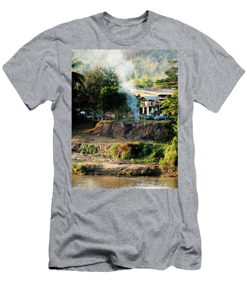 Laos Riverside Scene  Men's T-Shirt (Athletic Fit)