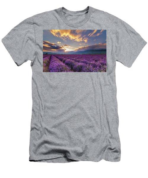 Lavender Sun Men's T-Shirt (Athletic Fit)