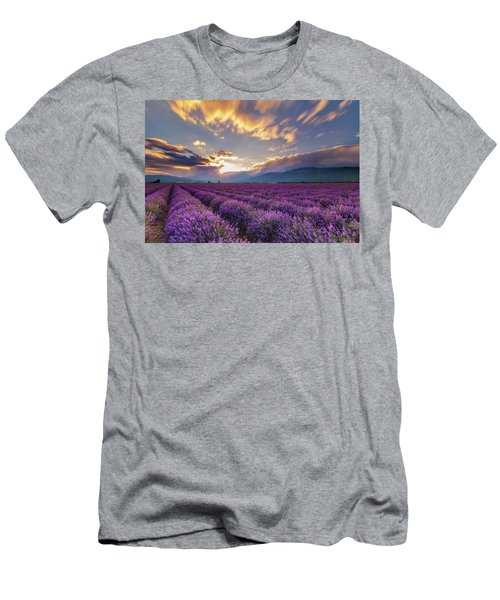 Lavender Sun Men's T-Shirt (Athletic Fit)