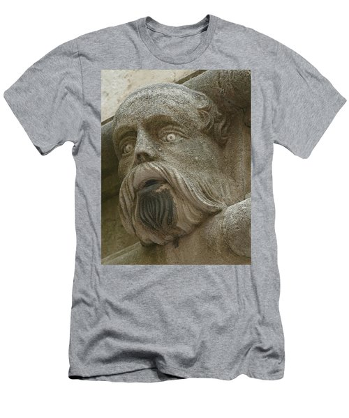 Life Sized Sculptures Of Human Heads Men's T-Shirt (Athletic Fit)