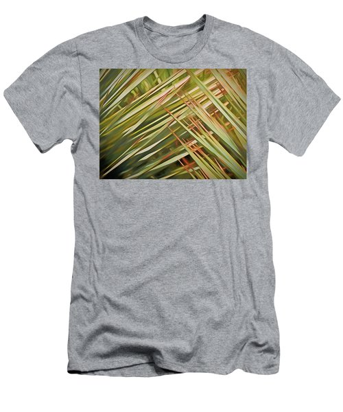 Men's T-Shirt (Athletic Fit) featuring the mixed media Light Touch 12  by Lynda Lehmann