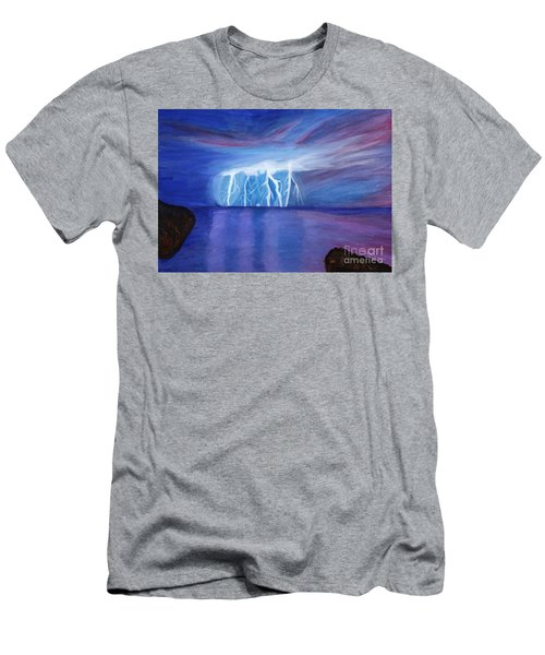 Lightning On The Sea At Night Men's T-Shirt (Athletic Fit)