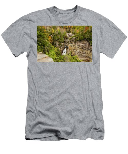Linville Falls - Wide View Men's T-Shirt (Athletic Fit)