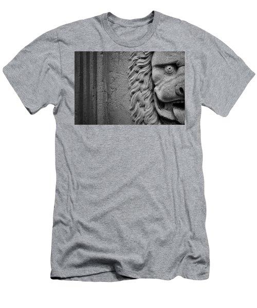 Lion Statue Portrait Men's T-Shirt (Athletic Fit)