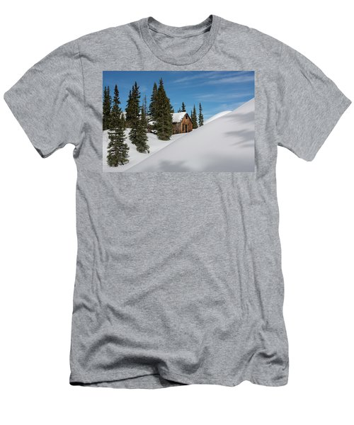 Men's T-Shirt (Athletic Fit) featuring the photograph Little Cabin by Angela Moyer