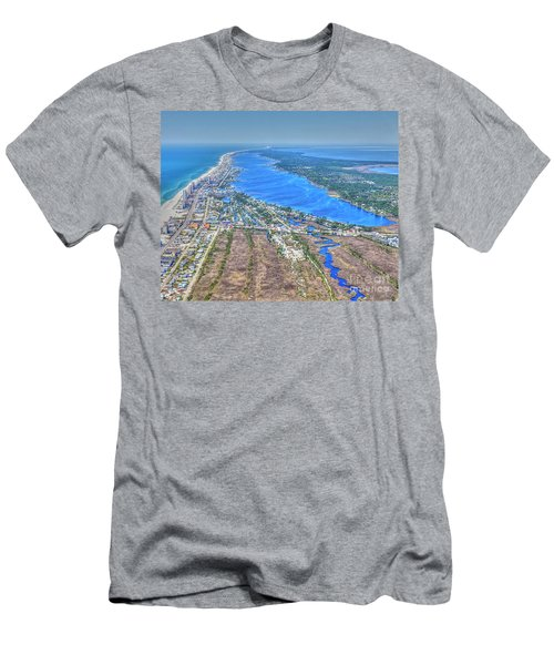 Men's T-Shirt (Athletic Fit) featuring the photograph Little Lagoon 7489 by Gulf Coast Aerials -