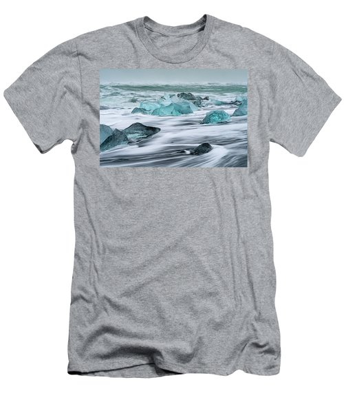 Long Exposure At The Jokulsarlon Ice Beach Men's T-Shirt (Athletic Fit)