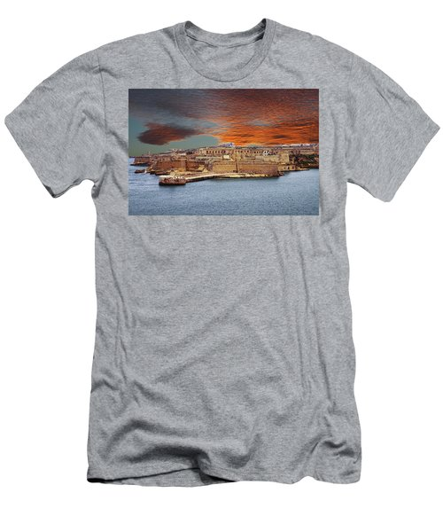 Looking Across Harbor From Fort St Elmo To  Fort Rikasoli Men's T-Shirt (Athletic Fit)