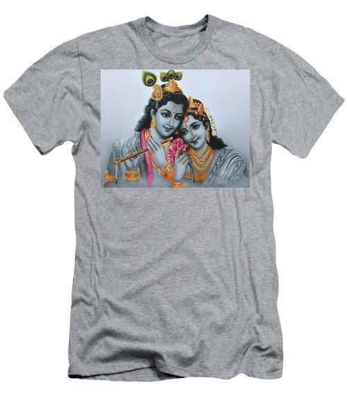 bd259059 Lord Shri Krishna Playing Flute Men's T-Shirt (Athletic Fit)
