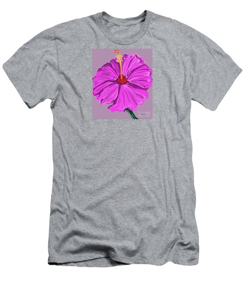 Lovely Pink Hibiscus Men's T-Shirt (Athletic Fit)