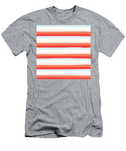 lumpy or bumpy lines abstract and colorful - QAB266 Men's T-Shirt (Athletic Fit)