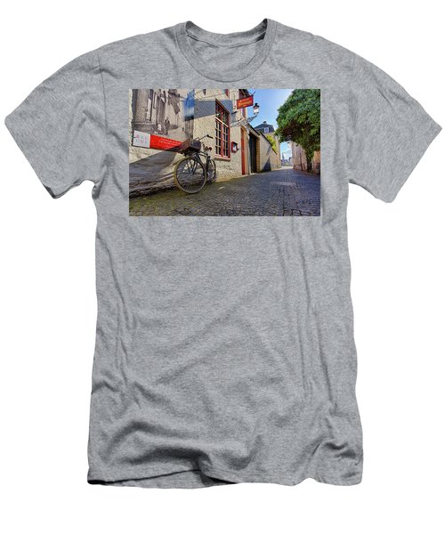 Lux Cobblestone Road Brugge Belgium Men's T-Shirt (Athletic Fit)