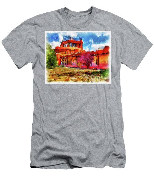 Mabel's Courtyard In Aquarelle Men's T-Shirt (Athletic Fit)