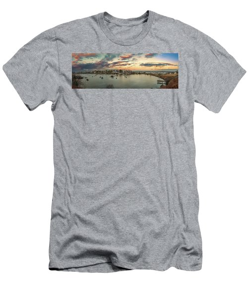 Men's T-Shirt (Athletic Fit) featuring the photograph Mackerel Cove Sunrise by Guy Whiteley