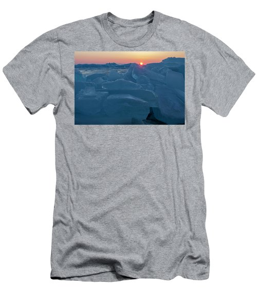 Mackinaw City Ice Formations 21618013 Men's T-Shirt (Athletic Fit)