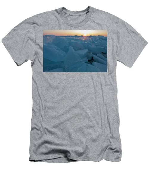 Mackinaw City Ice Formations 21618014 Men's T-Shirt (Athletic Fit)