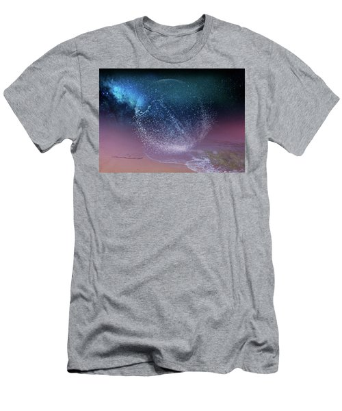 Magical Night Moment By The Seashore In Dreamland 3 Men's T-Shirt (Athletic Fit)