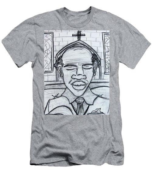 Man Praying  Men's T-Shirt (Athletic Fit)