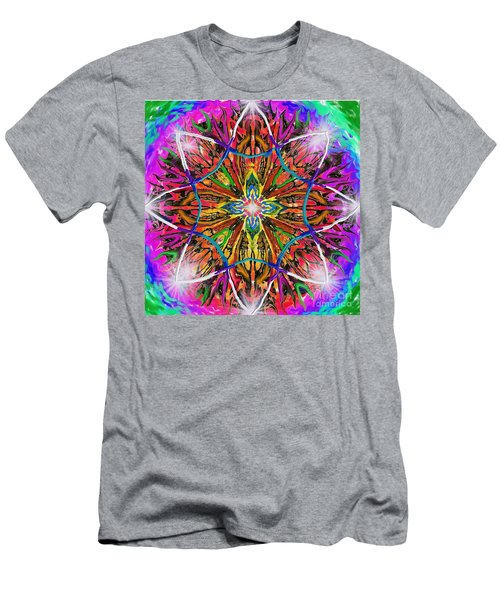 Men's T-Shirt (Athletic Fit) featuring the painting Mandala 12 11 2018 by Hidden Mountain