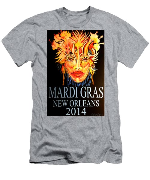 Mardi Gras Lady Men's T-Shirt (Athletic Fit)