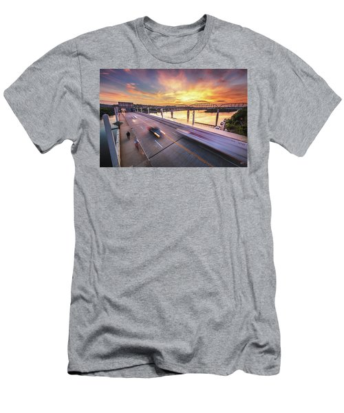 Market Street Commuters Men's T-Shirt (Athletic Fit)