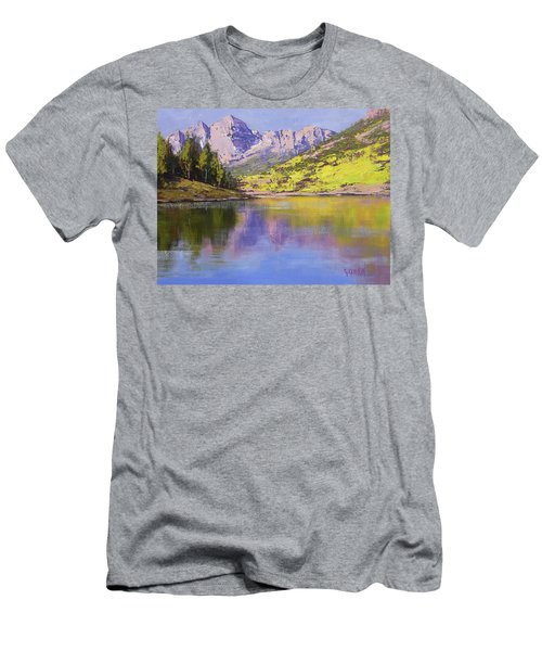 Maroon Bells Reflections Men's T-Shirt (Athletic Fit)