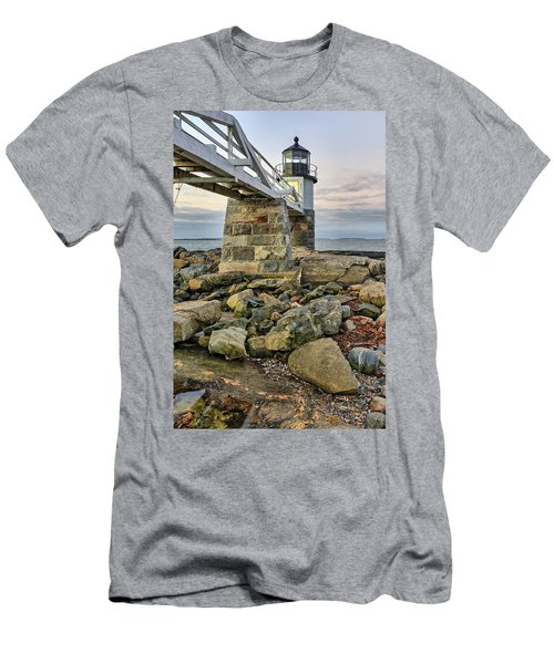 Marshall Point Light From The Rocks Men's T-Shirt (Athletic Fit)