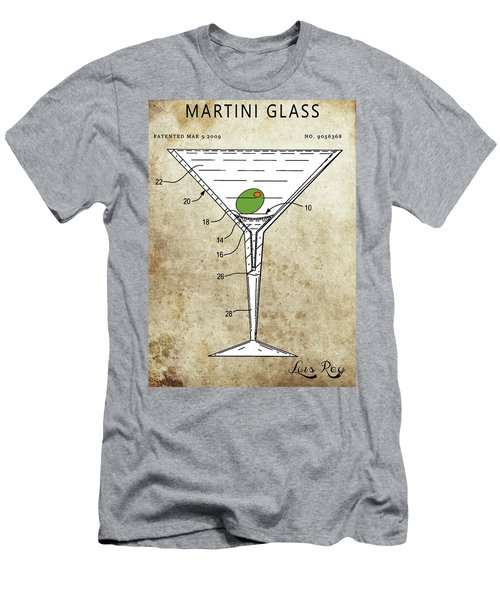 Martini Glass Patent Men's T-Shirt (Athletic Fit)