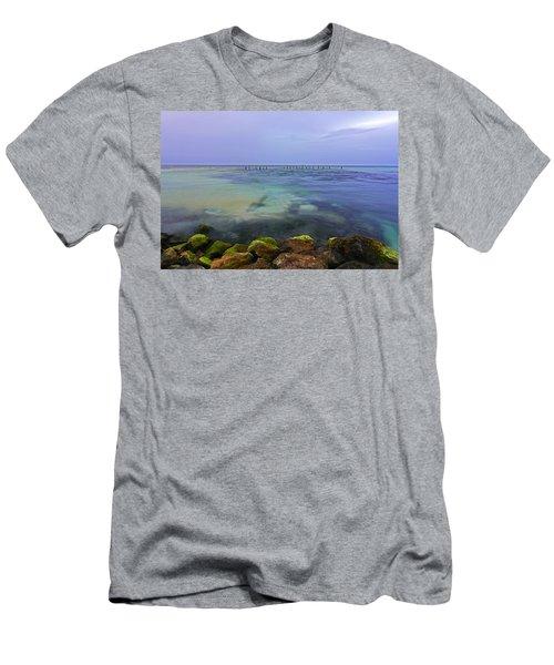 Mayan Sea Rocks Men's T-Shirt (Athletic Fit)