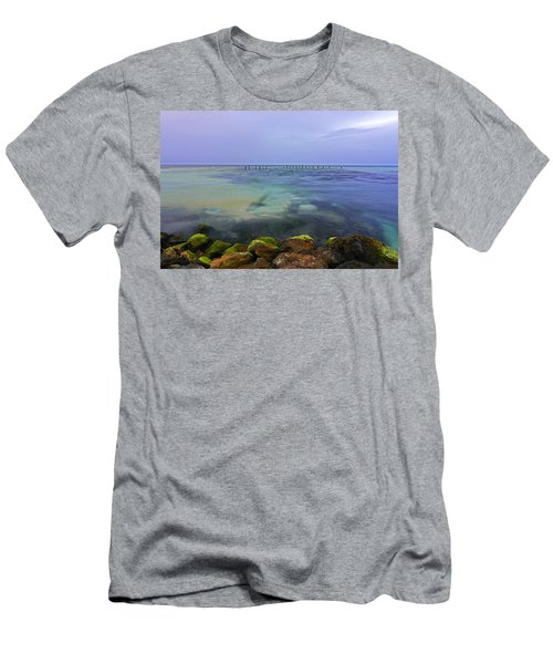 Mayan Sea Rocks Men's T-Shirt (Athletic Fit)