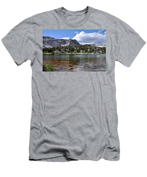 Medicine Bow Peak And Mirror Lake Men's T-Shirt (Athletic Fit)