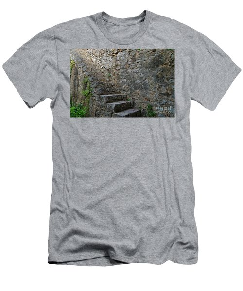 Medieval Wall Staircase Men's T-Shirt (Athletic Fit)