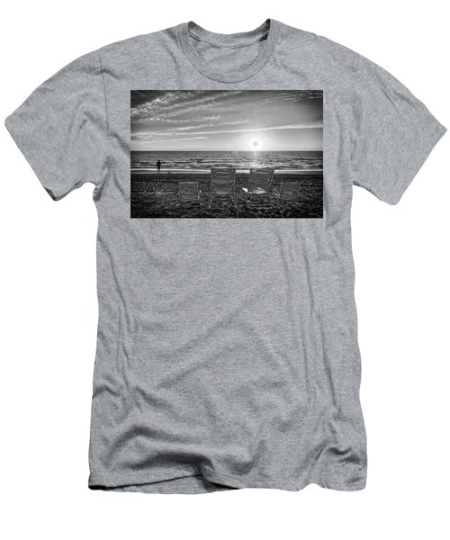 Men's T-Shirt (Athletic Fit) featuring the photograph Memories In Black And White by Lynn Bauer