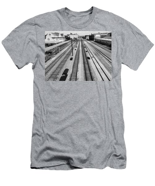 Middle Of The Tracks Men's T-Shirt (Athletic Fit)
