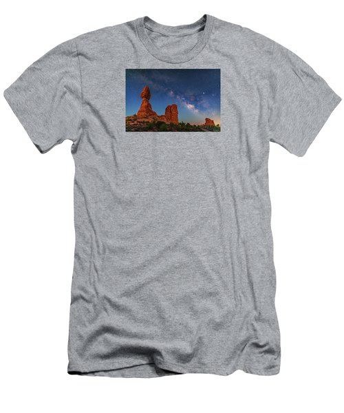Milky Way Over Balanced Rock At Twilight Men's T-Shirt (Athletic Fit)