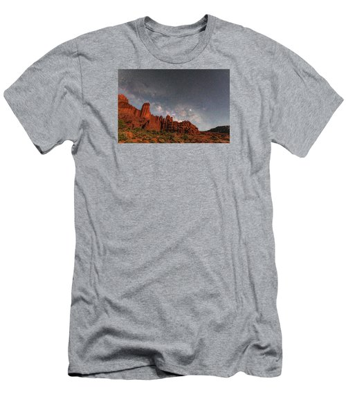 Milky Way Over Fisher Towers Men's T-Shirt (Athletic Fit)