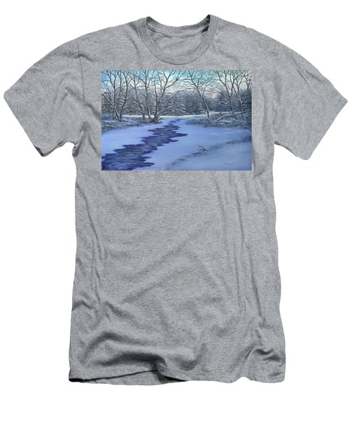 Millhaven Creek In Winter Men's T-Shirt (Athletic Fit)