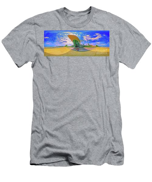 Men's T-Shirt (Athletic Fit) featuring the photograph Milwaukee Art Musem  Tom Jelen by Tom Jelen