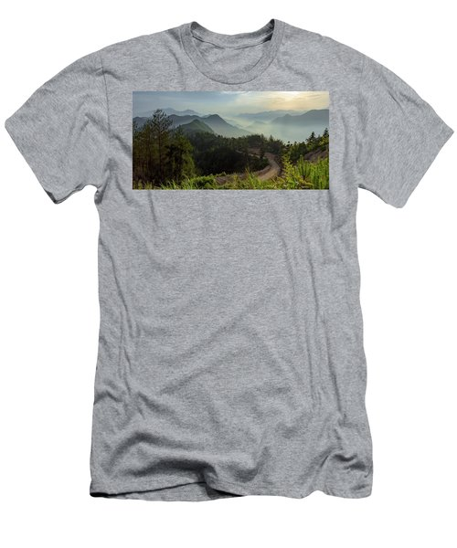 Misty Mountain Morning Men's T-Shirt (Athletic Fit)