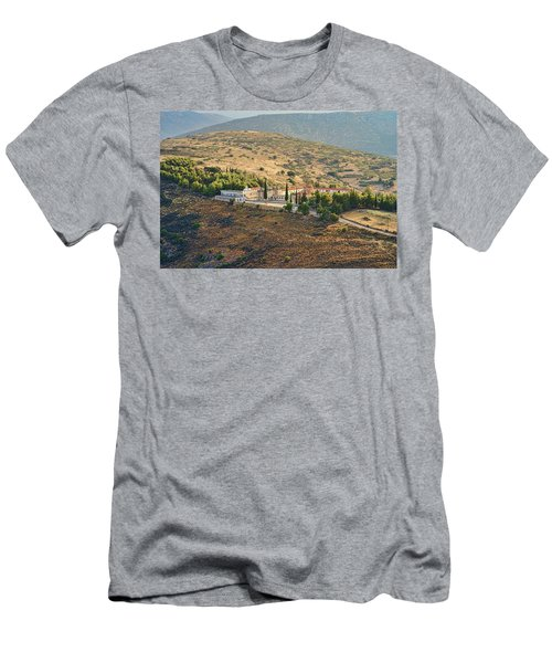 Monastery Agion Anargiron Above Argos Men's T-Shirt (Athletic Fit)