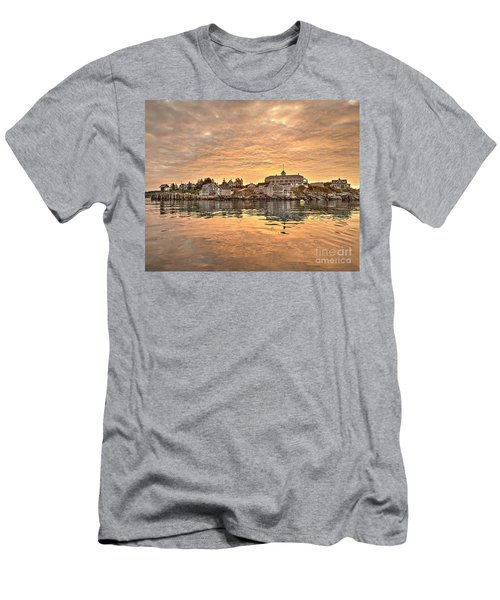 Monhegan Sunrise - Harbor View Men's T-Shirt (Athletic Fit)