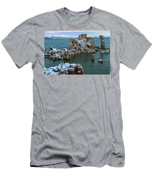 Mono Lake Tufa Towers Sunrise Men's T-Shirt (Athletic Fit)