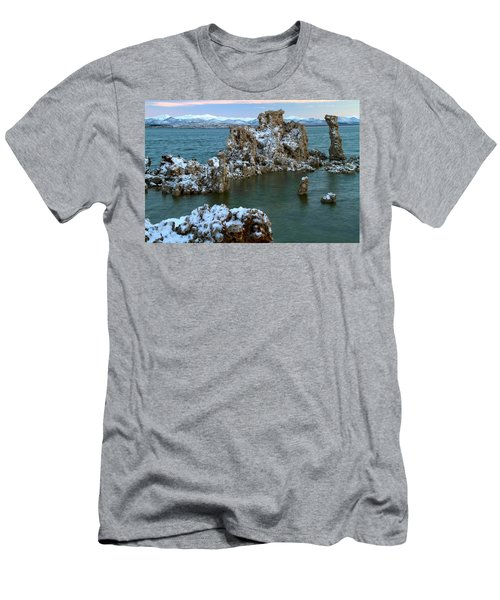 Mono Lake Tufa Towers Sunrise Men's T-Shirt (Athletic Fit)