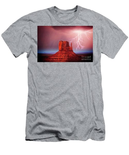 Men's T-Shirt (Athletic Fit) featuring the photograph Monsoon Storm by Scott Kemper
