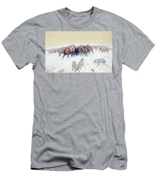 Montana Winter, 1905 Men's T-Shirt (Athletic Fit)