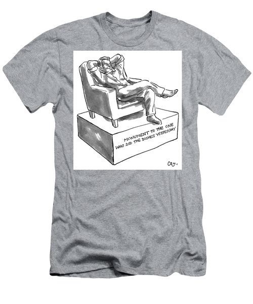 Monument Of The One Who Did The Dishes Yesterday Men's T-Shirt (Athletic Fit)