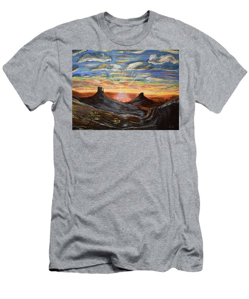 Monument Valley And Kokopelli Men's T-Shirt (Athletic Fit)