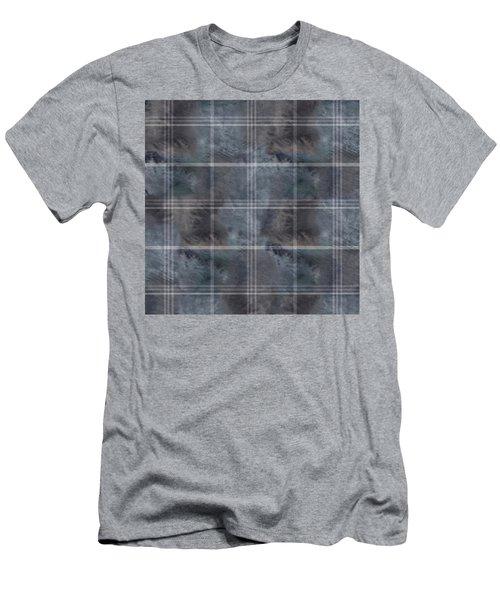 Moody Blue Plaid Men's T-Shirt (Athletic Fit)