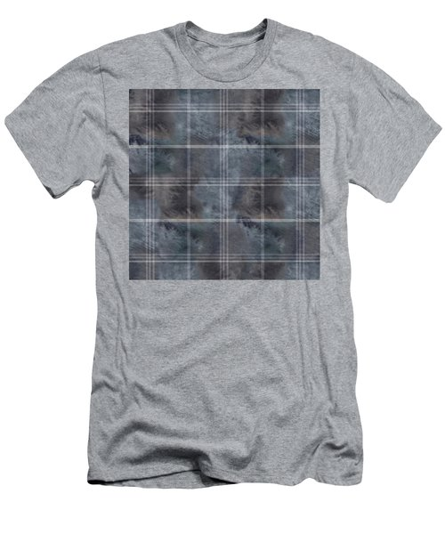 Moody Blue Plaid Men's T-Shirt (Athletic Fit)